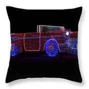 Rope Light Art 1957 Chevy Throw Pillow