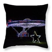 Rope Light Art Star Trek Enterprise Throw Pillow