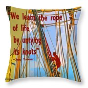 Rope Of Life Throw Pillow