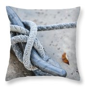 Rope On Cleat Throw Pillow
