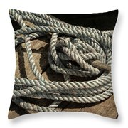 Rope On The Dock Throw Pillow