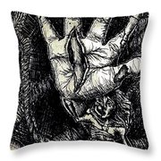 Roped In Throw Pillow