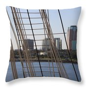 Ropes And Cables Of The Queen Mary Throw Pillow