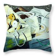 Ropes And Floats Throw Pillow