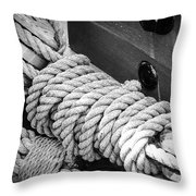 Ropes And Pulleys Throw Pillow