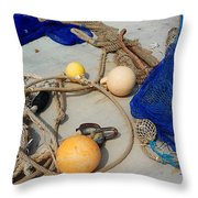 Ropes Nets And Bouys Throw Pillow