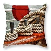 Ropes Of A Sailboat Throw Pillow