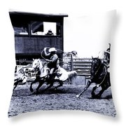 Roping 1 Throw Pillow
