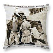Roping Her Romeo 1919 Throw Pillow