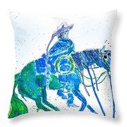 Roping Horse Throw Pillow