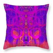 Rorschach Test Art Blue Throw Pillow