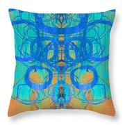 Rorschach Test Art Orange Throw Pillow