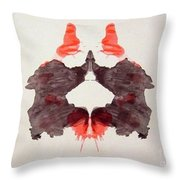 Rorschach Test Card No. 2 Throw Pillow