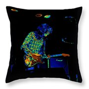 Saturated Blues Rock Throw Pillow