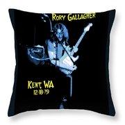 Rory Kent Blues Throw Pillow