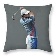 Rory Mcilroy Ddc 2015 Throw Pillow