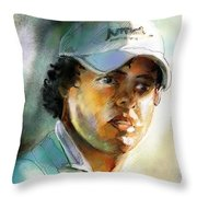 Rory Mcilroy Throw Pillow