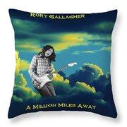 Million Miles Away Throw Pillow