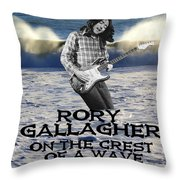 Crest Of A Wave 2 Throw Pillow