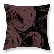 Rosa D'amore Deep Mauve Throw Pillow