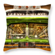 Rosa Parks Bus Dearborn Mi Throw Pillow