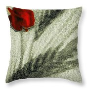Rosa Roja Throw Pillow