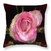 Rosa Rose Portrait Throw Pillow
