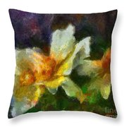 Rosa Rubiginosa Throw Pillow