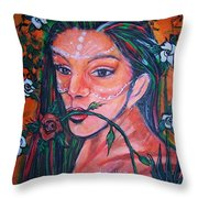 Rosales Latina Throw Pillow