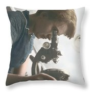 Rosalind Franklin, Crystallographer Throw Pillow