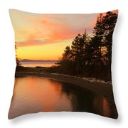 Rosario Beach Sunset Throw Pillow