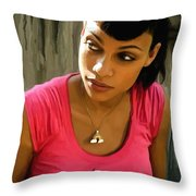 Rosario Dawson @ Death Proof Throw Pillow