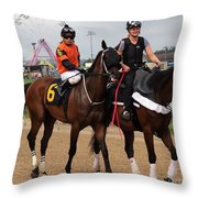 Rosario Montanez - Ticker Tape Parade - Timonium Throw Pillow
