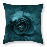 Rose - Green Throw Pillow