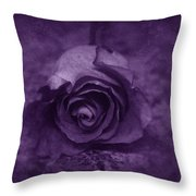 Rose - Purple Throw Pillow