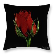Rose 123 Throw Pillow