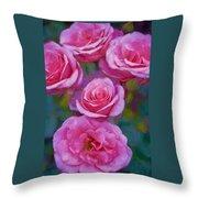 Rose 344 Throw Pillow