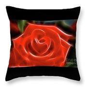 Rose-5845-fractal Throw Pillow