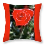 Rose-5879-fractal Throw Pillow