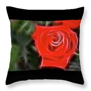 Rose-5890-fractal Throw Pillow