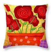 Rose-a-go-go Throw Pillow