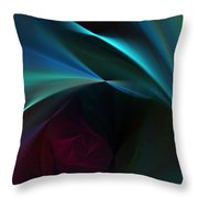 Rose And Satin Throw Pillow