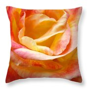 Rose Art Pink Yellow Summer Rose Floral Baslee Troutman Throw Pillow