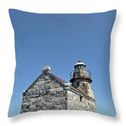 Rose Blanche Lighthouse II Throw Pillow