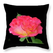 Rose Blushing Cutout Throw Pillow
