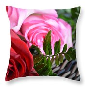 Rose Boquet Throw Pillow