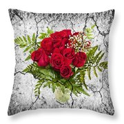 Rose Bouquet Throw Pillow by Elena Elisseeva