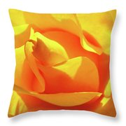 Rose Bright Orange Sunny Rose Flower Floral Baslee Troutman Throw Pillow