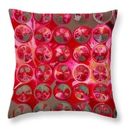 Rose Bubbles Throw Pillow