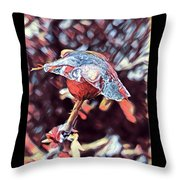 Rose Bud Frozen In Time  Throw Pillow